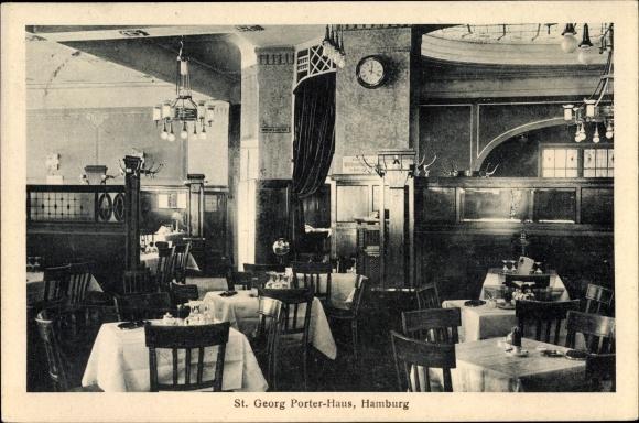 Ak Hamburg Mitte St. Georg, Porter Haus, Bes. Wilhelm Hagel, Innenansicht 0