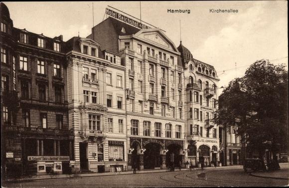 Ak Hamburg, Kirchenallee, Hotel Reichshof 0