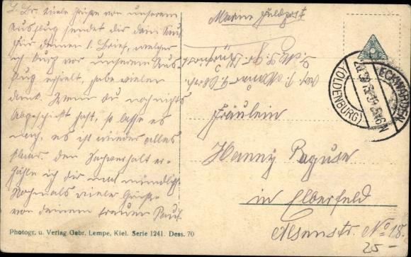 Ak Deutsches Kriegsschiff, SMS Kaiser, Kaiserliche Marine, Fahnen, Wappen 1