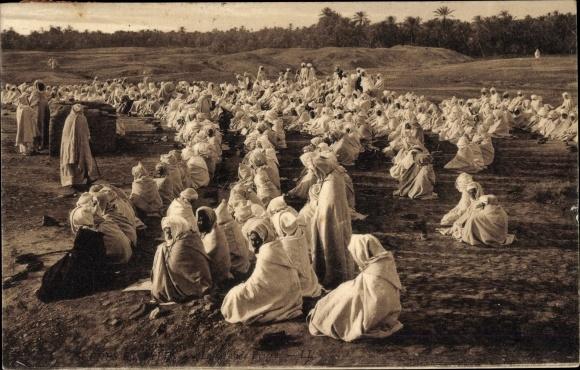 Ak Maghreb, Scenes et Types, La Grande Priere, Muslime beim Gebet unter freiem Himmel 0