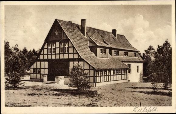 Ak Oerlinghausen Nordrhein Westfalen, Bosse Schulheim Armin in der Oerlinghauser Senne, Außenansicht 0