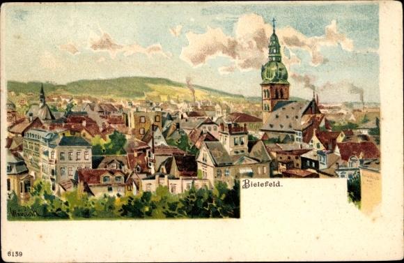 Künstler Litho Bielefeld in Nordrhein Westfalen, Panorama vom Ort
