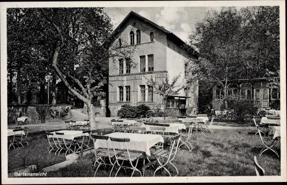 Ak Osnabrück Niedersachsen, Im Hone, Caféhaus zum Schmied, Bes. H. Sandmann, vorm. Steinkamp, Garten 0