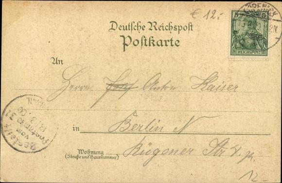 Litho Berlin Köpenick, Müggelturm und Marienlust, Inh. Carl Streichhan, Müggelberge, Panorama 1