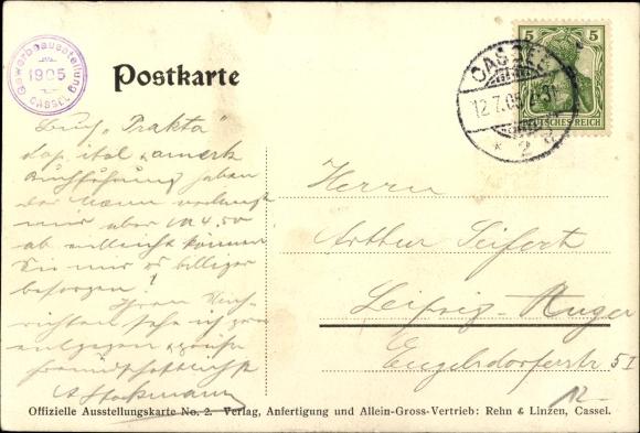 Künstler Ak Oreans, R., Kassel in Hessen, Jubiläums Gewerbeausstellung 1905, Wappen 1