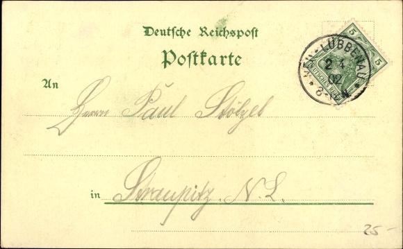 Litho Märkisch Buchholz, Geschäftshaus Max Frey Nachf., Inh. Carl Görsch, Molkerei, Schneidemühle 1