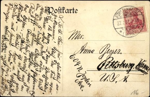 Ak Fürstenwalde, Münchsberger Straße, Geschäft Gebrüder Salomon, A. W. Friedrich, Richard Stock 1