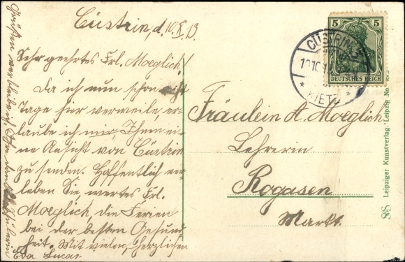 Ak Kostrzyn nad Odrą Cüstrin Ostbrandenburg, Artillerie Kaserne, Kaserne Inf. Reg. Nr. 48, Brücke 1