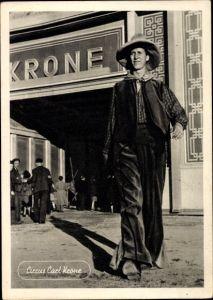 Ak Zirkus Carl Krone, Bimbo, der längste Mann Europas
