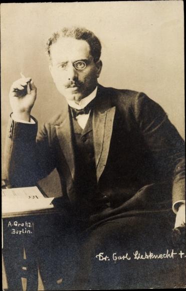 Ak Karl Liebknecht, Marxist, Antimilitarist, SPD, Portrait 0