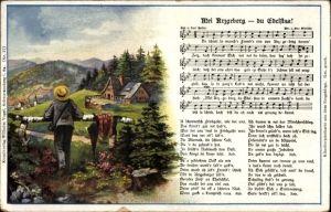 Lied Ak Vogel, Wilhelm, Mei Arzgeberg du Edelstaa, Volkslied, Carl Bestler
