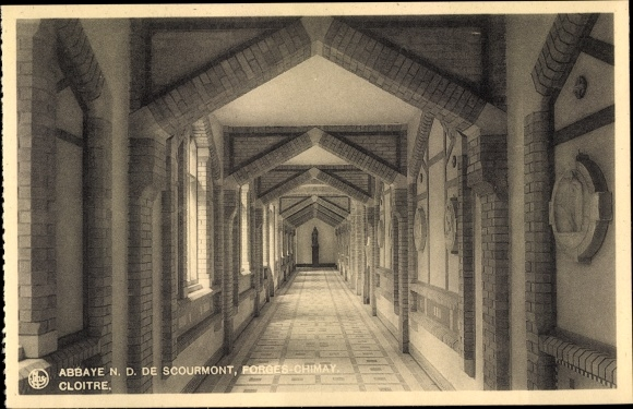 Ak Forges Chimay Wallonien Hennegau, Abbaye N. D. de Scourmont, Cloitre