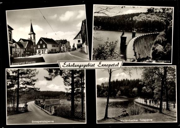Ak Ennepetal Nordrhein Westfalen, Hasper, Heilenbecker und Ennepetal Talsperre