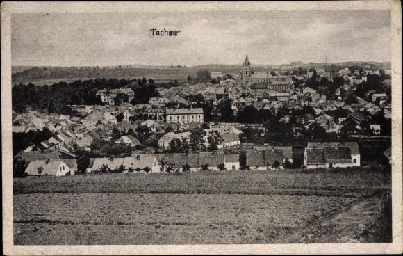 Ak Tachov Tachau Reg. Pilsen, Panorama vom Ort