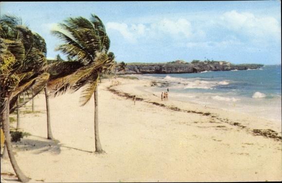 Ak Saint Philip Barbados, Sam Lords Beach, Strandpartie