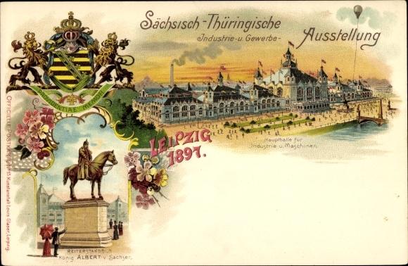 Litho Leipzig, Sächsisch-Thüringische Industrie- und Gewerbeausstellung 1897, Wappen
