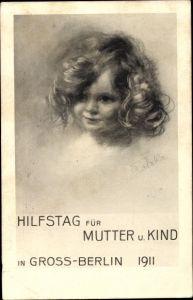 Künstler Ak Hilfstag für Mutter und Kind in Großberlin 1911