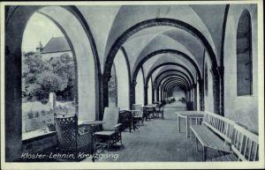Ak Kloster Lehnin in Brandenburg, Kloster, Kreuzgang, Bänke