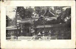 Ak Nagasaki Präf. Nagasaki Japan, Temple d'Osuwa