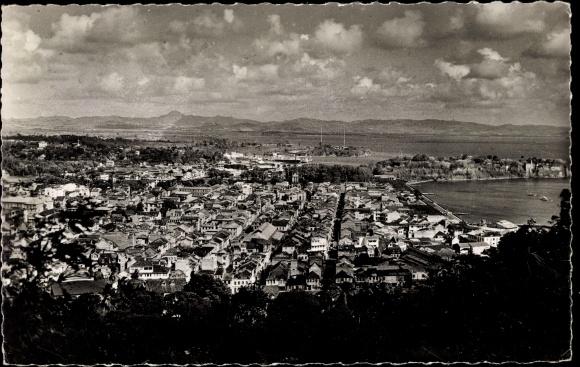 Ak Fort de France Martinique, Vue générale, Panoramablick auf die Stadt