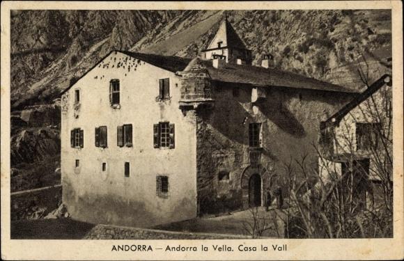 Ak Andorra la Vella Andorra, Casa de la Vall