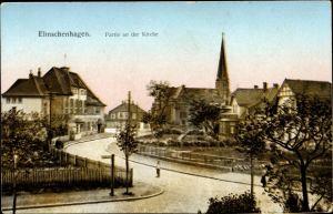 Ak Elmschenhagen Kiel in Schleswig Holstein, Partie an der Kirche