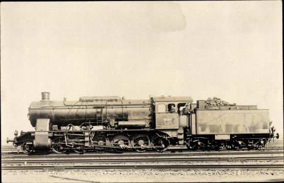 Foto Ak Deutsche Eisenbahn, Dampflokomotive, 59 044, Tender