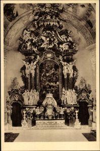 Ak Krzeszów Kamienna Góra Grüssau Schlesien, Abteikirche, Blick auf den Hochaltar