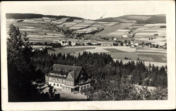 Ak Deštné v Orlických horách Deschnei im Adlergebirge Königgrätz, Hubert Birkehaus, Außenansicht