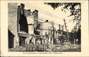 Ak Tschernyschewskoje EydtkauEydtkuhnen Ostpreußen, Russeneinfall 1914, Kriegszerstörungen, I. WK