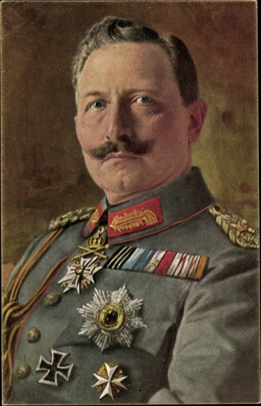 Ak Kaiser Wilhelm II., Portrait in Uniform, Orden