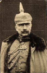 Ak Kaiser Wilhelm II., Portrait, Uniform, Pickelhaube