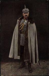 Ak Kaiser Wilhelm II., In Uniform, Mantel, Pickelhaube