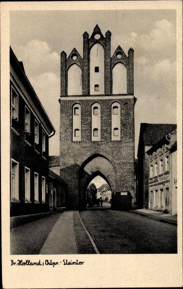 Ak Pasłęk Preußisch Holland Ostpreußen, Steintor