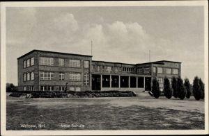 Ak Welzow in der Niederlausitz, Neue Schule, Außenansicht