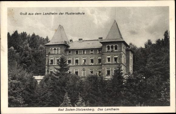 Ak Bad Soden Salmünster In Hessen Stolzenberg Das Landheim Der