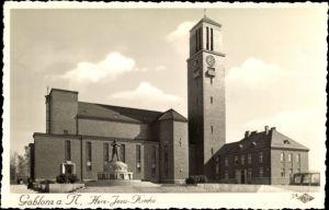 Ak Jablonec nad Nisou Gablonz an der Neiße Reg. Reichenberg, Herz Jesu Kirche