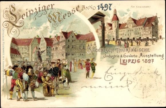 Litho Leipzig, Sächsisch-Thüringische Industrie- und Gewerbeausstellung 1897, Auerbachs Hof