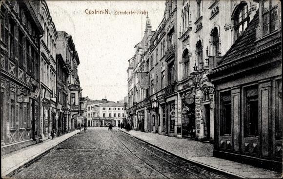 Ak Kostrzyn nad Odrą Cüstrin Ostbrandenburg, Zorndorfer Straße
