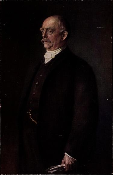 Künstler Ak von Lenbach, F., Otto von Bismarck, Herzog zu Lauenburg, Bundeskanzler, Standportrait