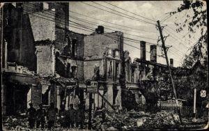Ak Tschernyschewskoje EydtkauEydtkuhnen Ostpreußen, Kriegszerstörungen, I. WK
