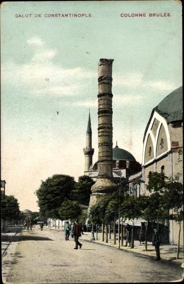 Ak Konstantinopel Istanbul Türkei, Colonne Brulée, Konstantinssäule
