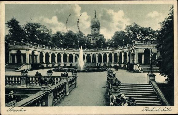 Ak Wrocław Breslau Schlesien, Liebichshöhe, Belvedere