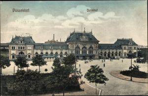 Ak Düsseldorf am Rhein, Hauptbahnhof, Außenansicht, Vorplatz, Anlagen