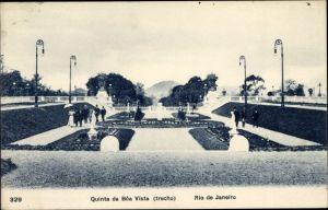 Ak Rio de Janeiro Brasilien, Quinta da Boa Vista, Park