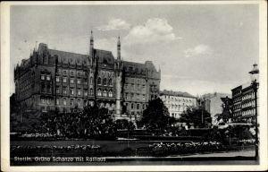 Ak Szczecin Stettin Pommern, Grüne Schanze, Rathaus