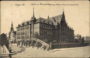 Ak Hagen in Westfalen Ruhrgebiet, Königl. Höhere Maschinenbauschule, Städt. Oberrealschule