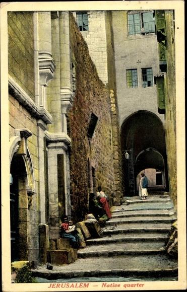 Ak Jerusalem Israel, Native quarter, stairway