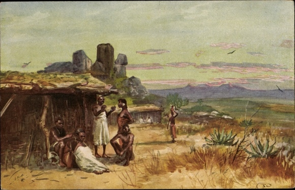 Künstler Ak Tansania, Agogo, Afrikaner, Landschaftsblick
