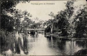 Ak Sydney Australien, Paysage, Pont